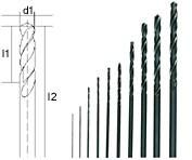 Набор спиральных сверл из быстрорежущей стали Proxxon