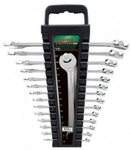 Набор комбинированных ключей Toptul на холдере 14 шт
