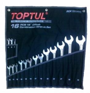 Набор комбинированных ключей Toptul Hi-Performance 16 ед
