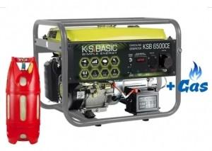 Двухтопливный генератор Konner&Sohnen BASIC KSB 6500 СЕ ГАЗ-БЕНЗИН