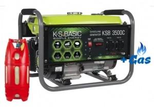 Двухтопливный генератор Konner&Sohnen BASIC KSB 3500 C ГАЗ-БЕНЗИН