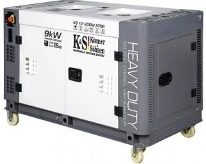 Дизельный генератор Konner&Sohnen KS 13-2DEW ATSR (жидкостное охлаждение)