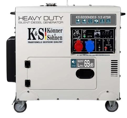 Дизельный генератор Konner&Sohnen KS 8200HDES-1/3 ATSR (EURO V) - Дизельный генератор Konner&Sohnen KS 8200HDES-1/3 ATSR (EURO V)