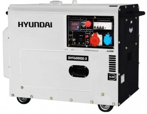 Дизельный генератор Hyundai DHY 6000SE-3