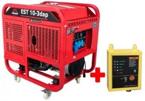 Генератор дизельный Vitals Master EST 10-3dap + блок ATS
