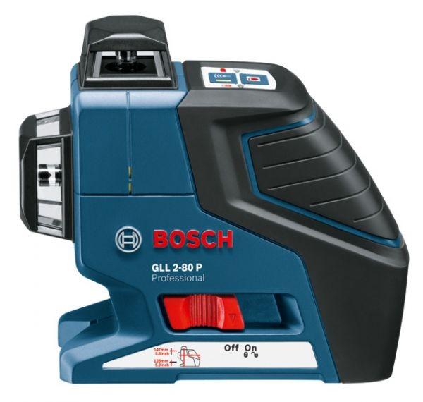 Линейный лазерный нивелир Bosch GLL 2-80 P + BM1 + RL2 в L-Boxx